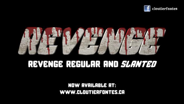 CF Revenge Font poster