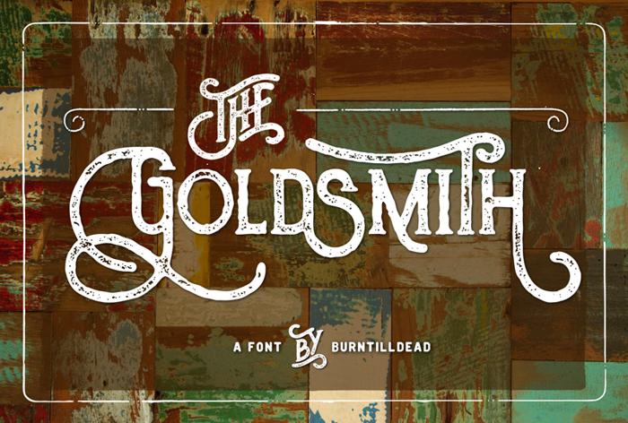 The Goldsmith Vintage Font poster