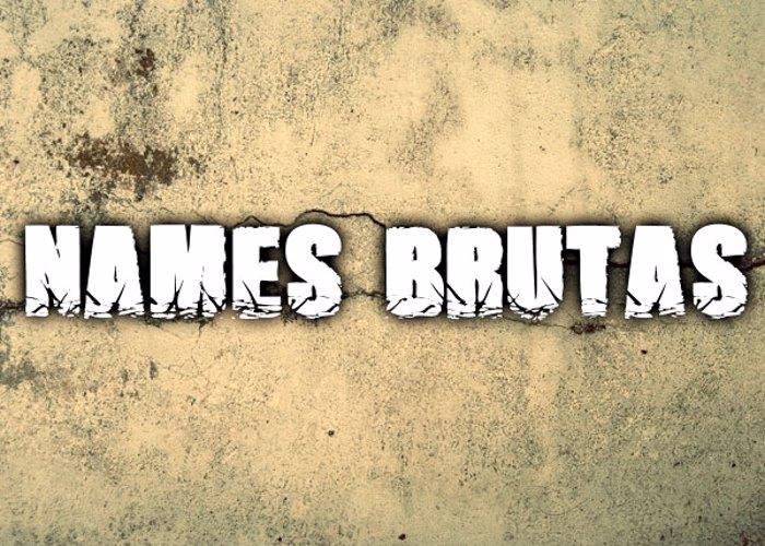 Names Brutas Font poster