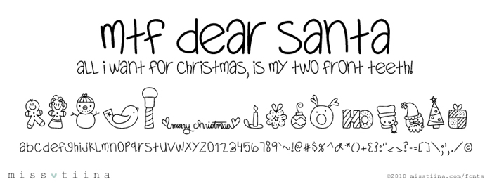 MTF Dear Santa Font poster