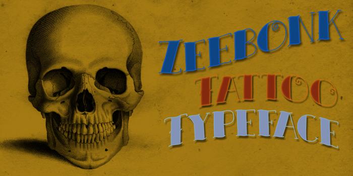 DK Zeebonk Font poster
