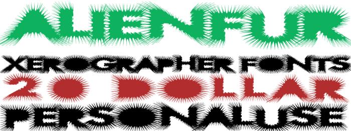 AlienFur Font poster
