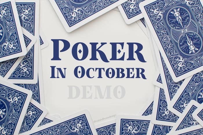 Poker In October Demo Font poster