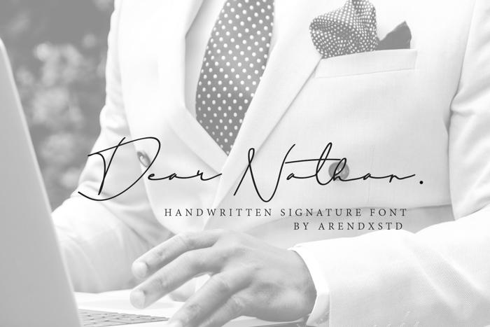Dear Nathan Font poster