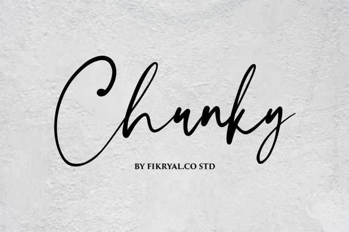 Chunky Font poster