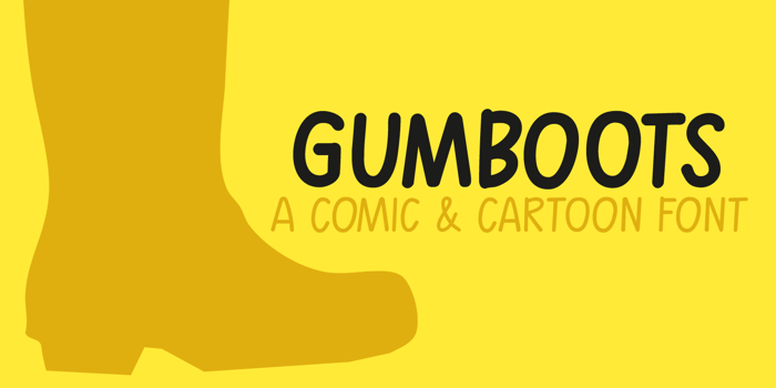 Gumboots Font poster
