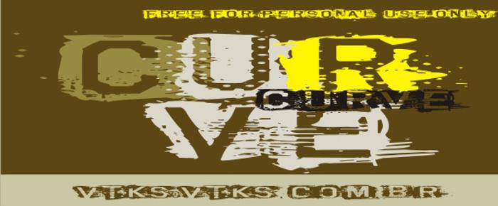 VTKS CURVE Font poster