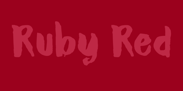 DK Ruby Red Font poster