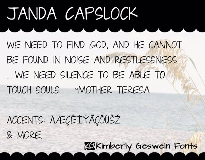 Janda Capslock Font poster