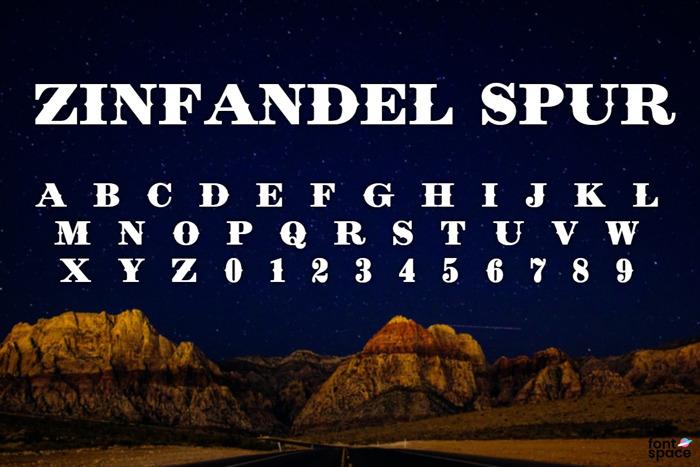 Zinfandel Spur Font poster