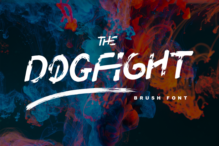 Dogfight Font poster