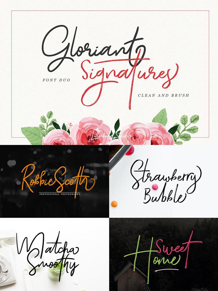 Gloriant Font poster