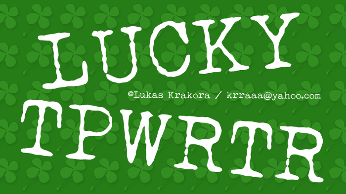 LUCKY TYPEWRITER Font poster