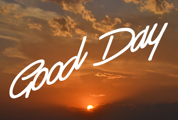 Good Day Font poster