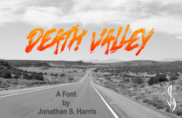 Death Valley Font poster
