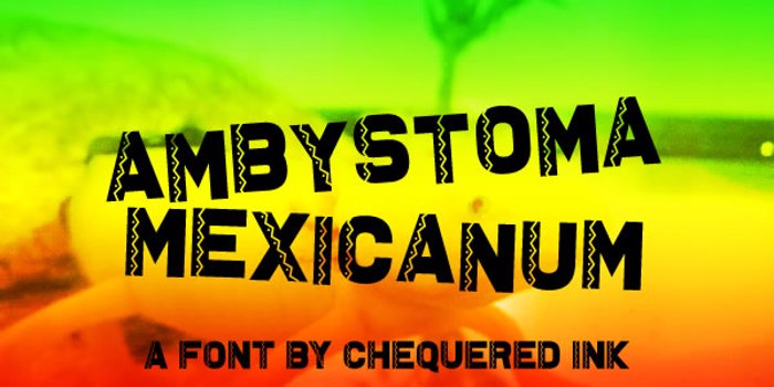 Ambystoma Mexicanum Font poster