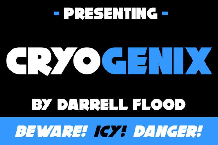 Cryogenix Font poster