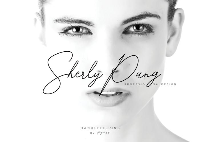 SherlyPung Font poster