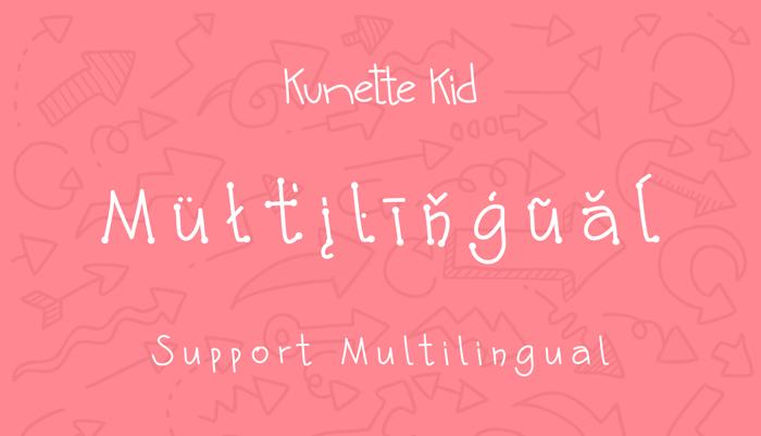 Kunette Kid Font poster