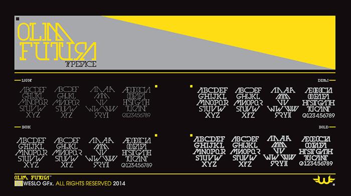 Olim Futura Font poster