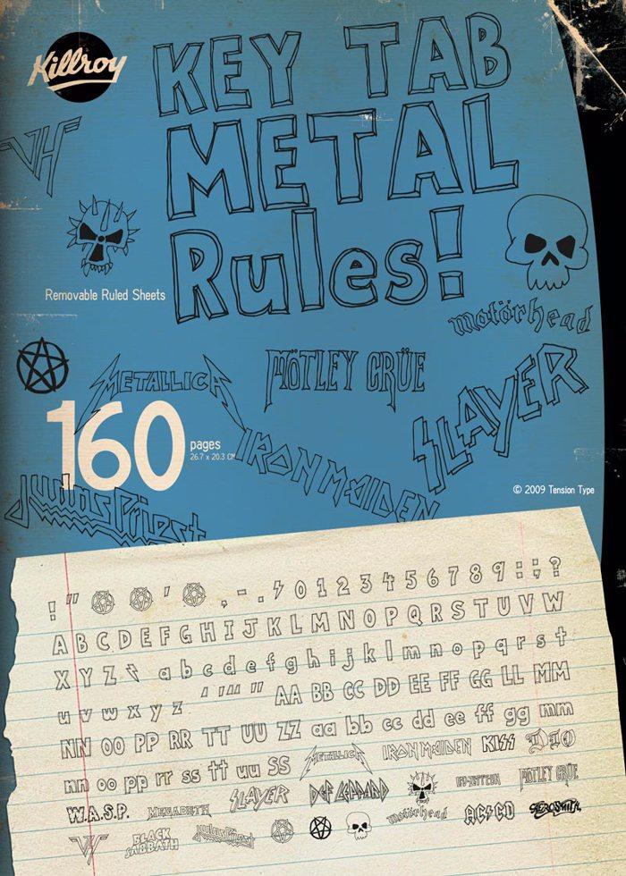 Key Tab Metal Font poster