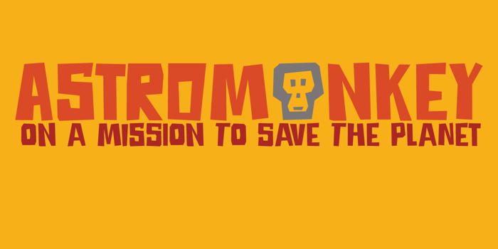DK Astromonkey Font poster
