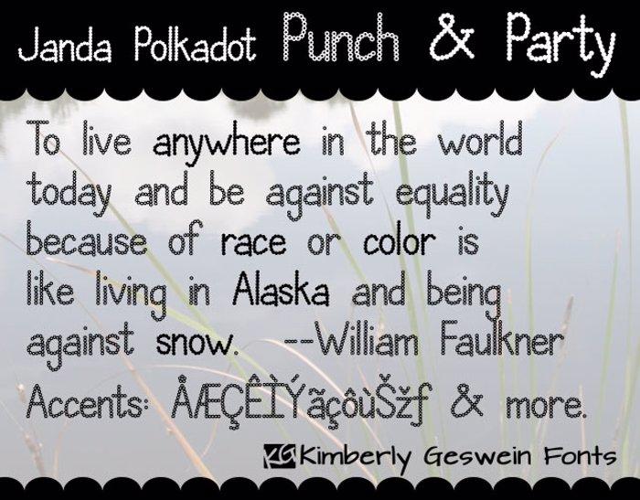 Janda Polkadot Punch Font poster