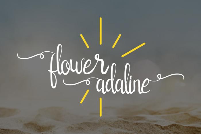 Flower Adaline Font poster