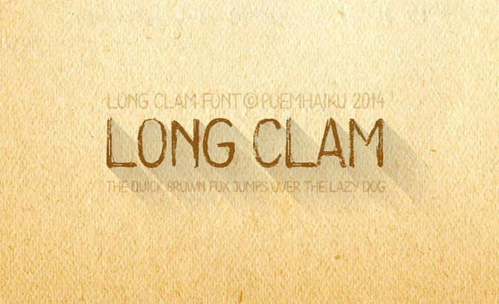 Long Clam Font poster