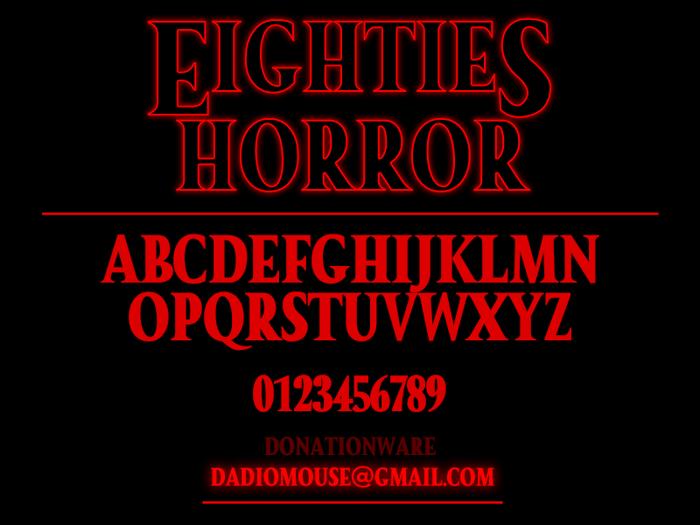 Eighties Horror Font poster