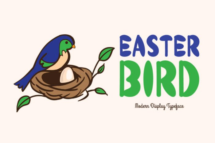 Easter Bird Font poster