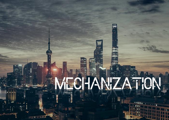 Mechanization Font poster