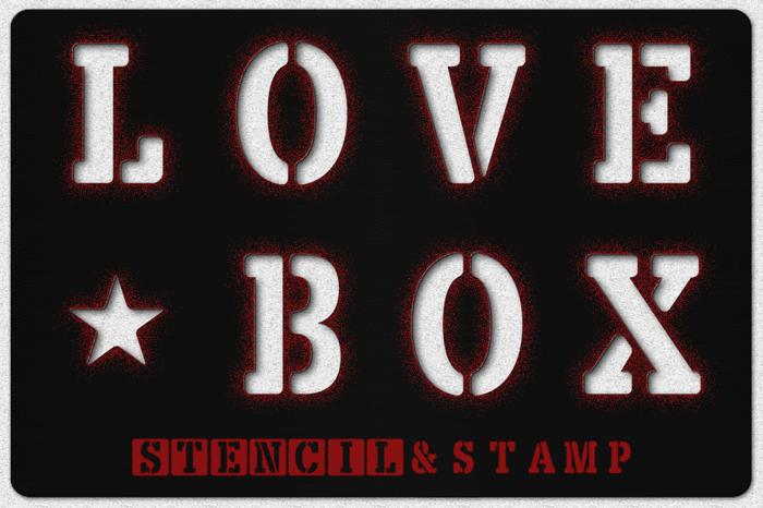 LOVE-BOX Font poster