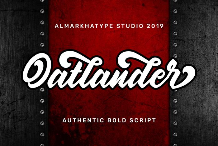 Oatlander Font poster