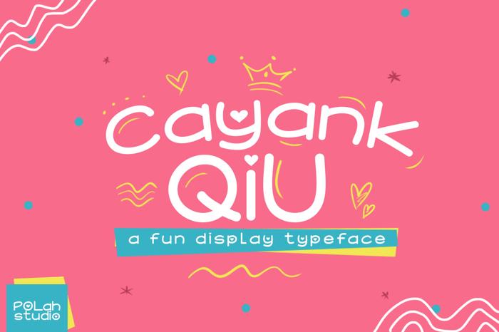 Cayank Qiu Font poster