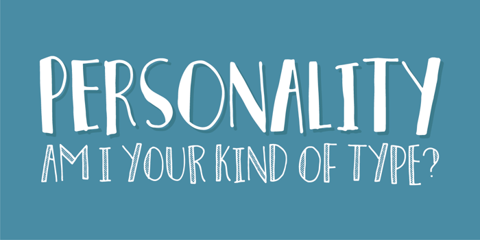 Personality Font poster