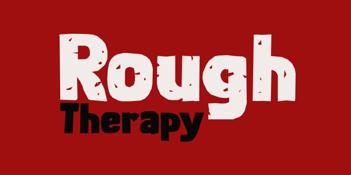 Rough Therapy DEMO Font poster