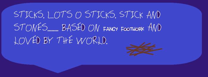 Sticks Font poster