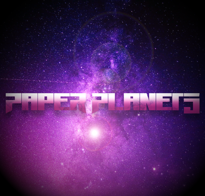 Paper Planets Font poster