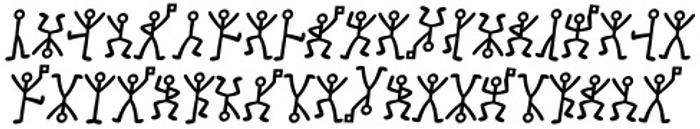 GL-DancingMen Font