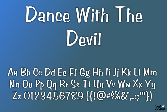 Dance With The Devil Font poster