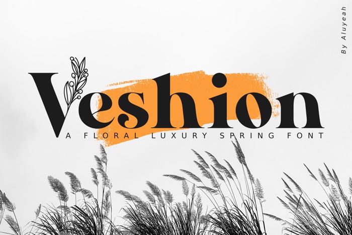 Veshion Font poster