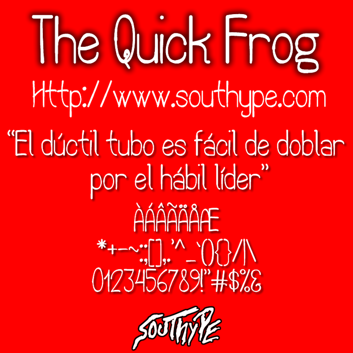 The Quick Frog St Font poster