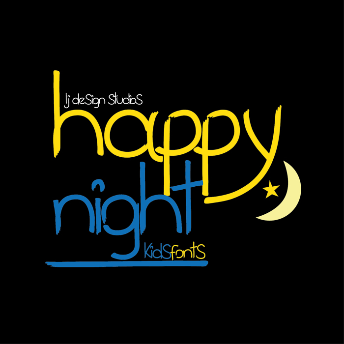 happy night Font poster