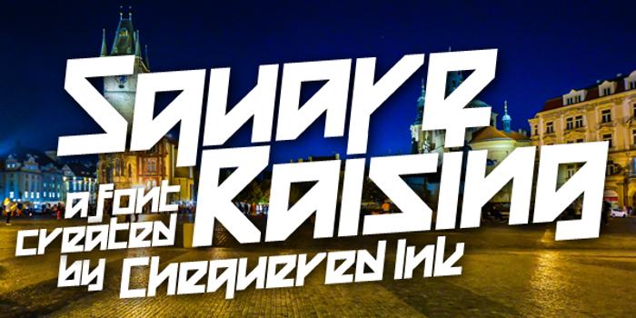 Square Raising Font poster