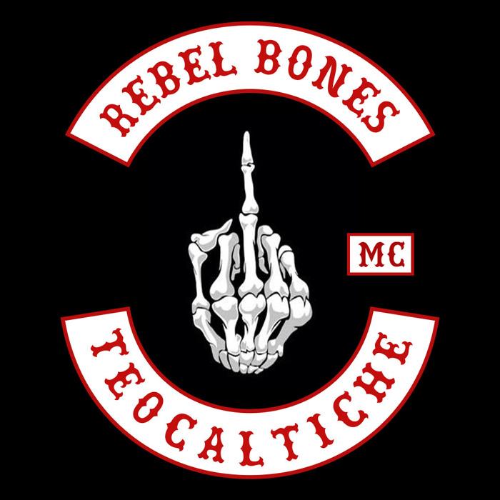 Rebel Bones bold Font poster