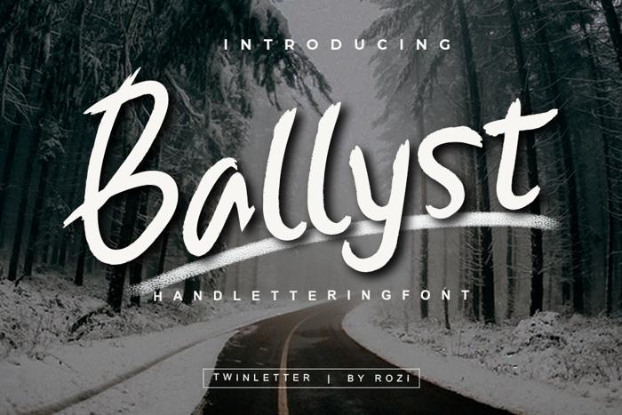 Ballyst Font poster