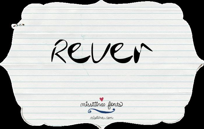 MTF Rever Font poster