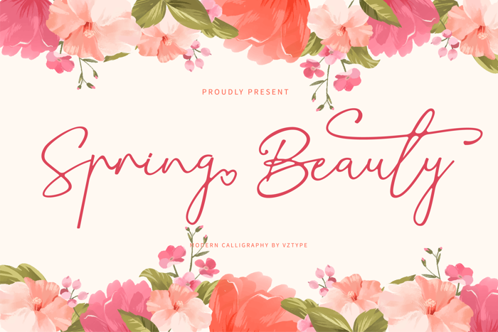 Spring Beauty Font poster