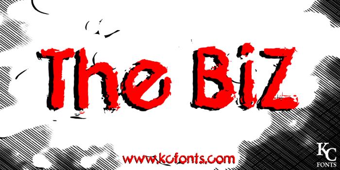 The Biz Font poster